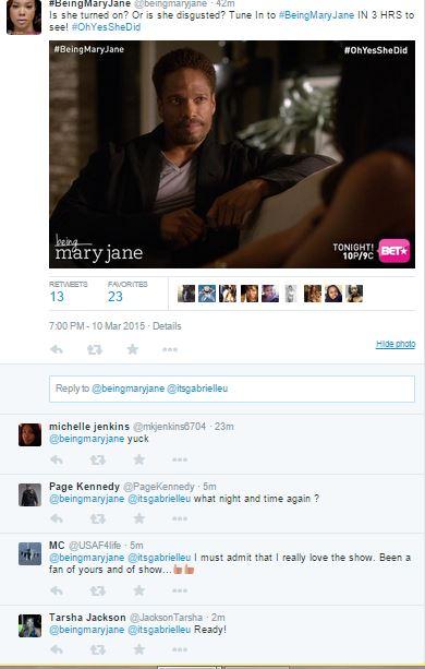 Being Mary Jane Tweet