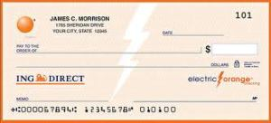 ING DIRECT check